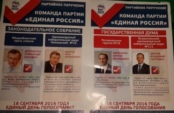 Жителям Ленобласти пришли счета за ЖКХ с рекламой «Единой России»