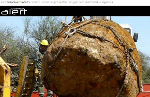 Метеорит-гигант откопали в Аргентине