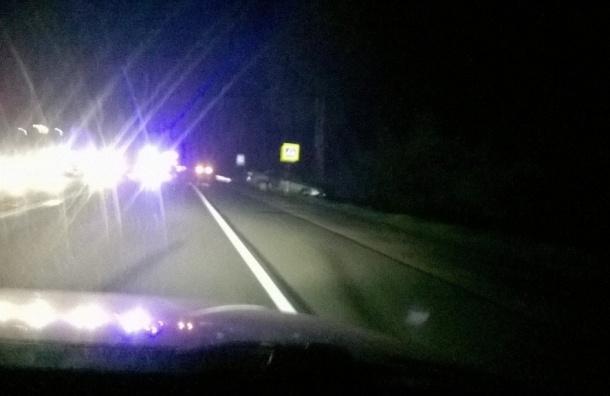 Пешехода сбили в жуткой аварии на Мурманском шоссе