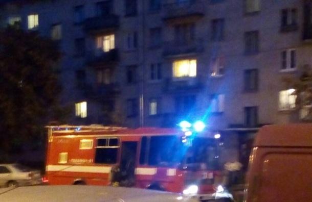 Пожарные тушат дом на улице Беринга