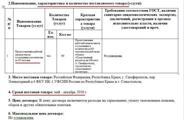 ФБК нашел лот о поставке заключённых в Крым в качестве рабочей силы