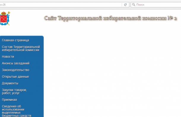 Сайт скандального ТИК № 2 почистили после увольнения председателя