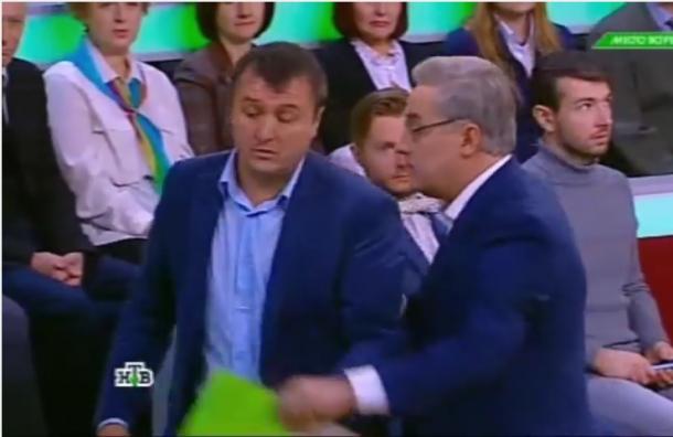 Ведущий ток-шоу выгнал разбушевавшегося украинского эксперта