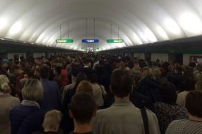 Поезда метро на зеленой линии ходят с увеличенным интервалом