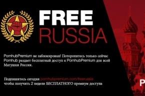 Pornhub дал двухнедельный бесплатный премиум-доступ «для всей Матушки России»
