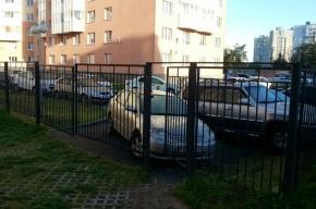 Toyota Corolla заблокировала вход в детский сад на 5-м Предпортовом