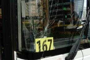 Разъяренный мужчина разбил лобовое стекло автобуса у «Проспекта Просвещения»