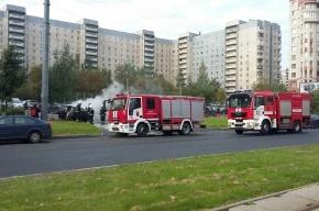 Volkswagen Passat сгорел во дворе дома на улице Савушкина