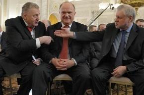 Теледебаты с участием Миронова и Жириновского закончились потасовкой