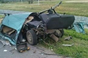 Водитель выпрыгнул из горящего грузовика в страшном ДТП в Ленобласти