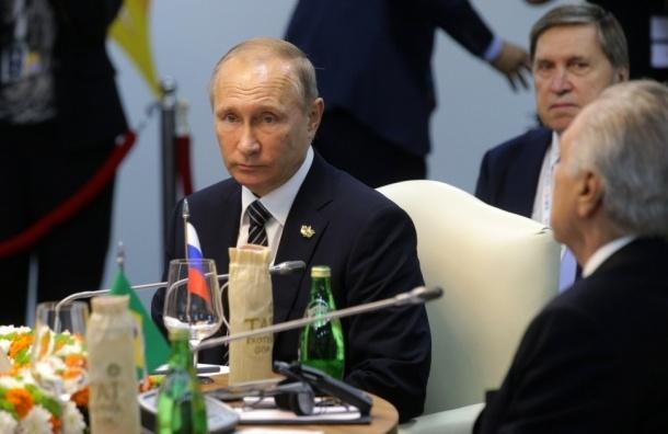 Путин призвал развивать экономические связи стран БРИКС
