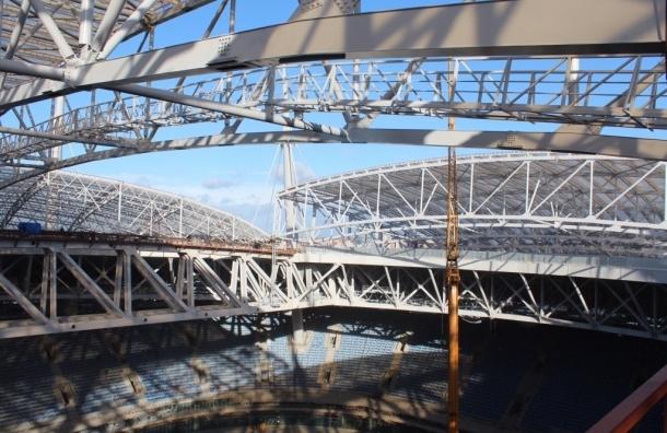 Раздвижную крышу стадиона на Крестовском успешно протестировали
