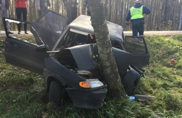 Свидетели: два человека пострадали вДТП натрассе под Петербургом