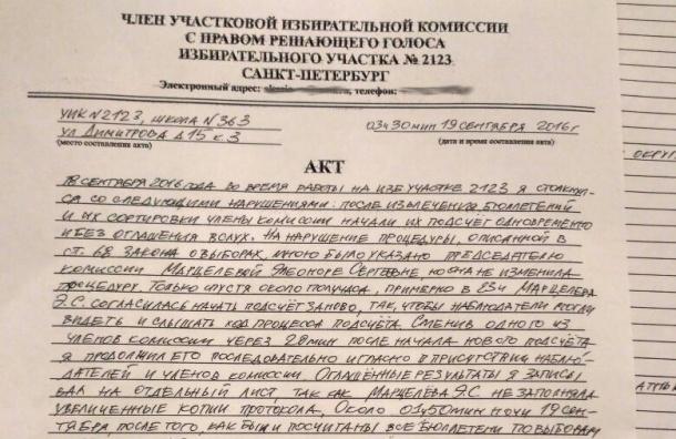 Неизвестные угрожали члену УИК в единый день голосования во Фрунзенском районе