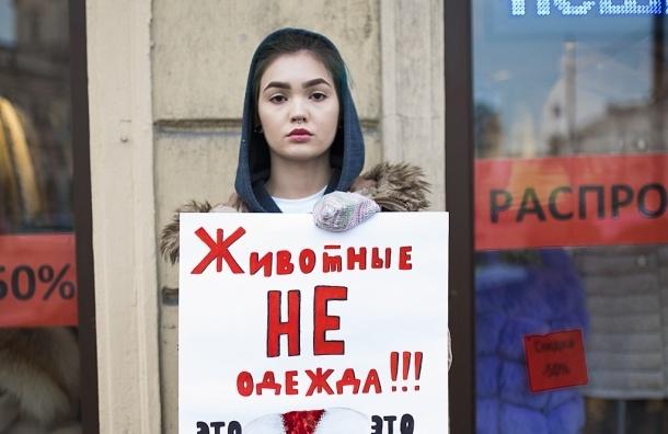 Антимеховая акция прошла в Петербурге
