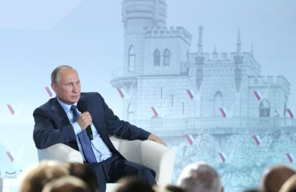 Путин назвал «удивительными идиотами» организаторов блокады Крыма