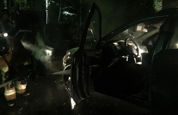 «Коктейль Молотова» уничтожил ночью на Сизова два автомобиля