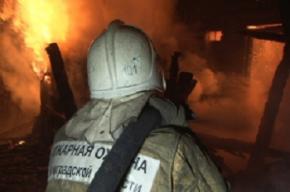 Жилой дом сгорел в Петродворце