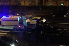 Сбитого пешехода на Литовской улице забросило на крышу машины