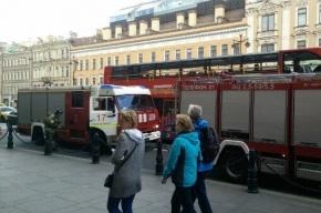 Полтора часа тушили пожар на Невском проспекте