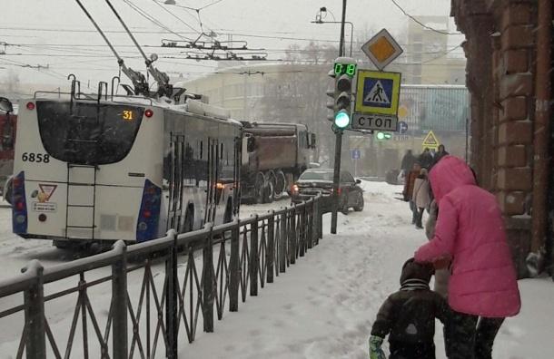 Смольный сказал спасибо петербуржцам за отсутствие «снежной истерии»