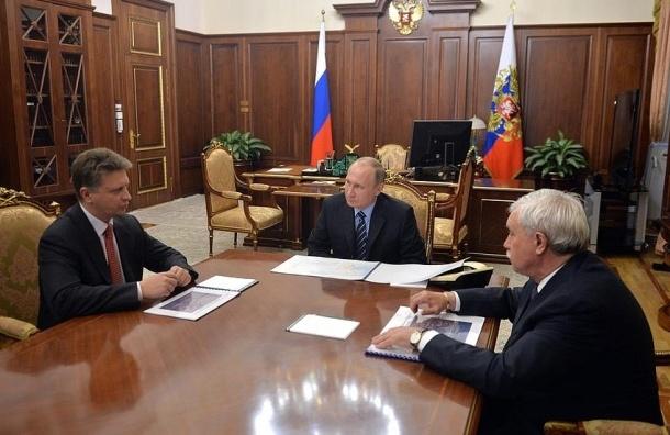 Путин, Полтавченко и Соколов обсудили будущее Петербурга