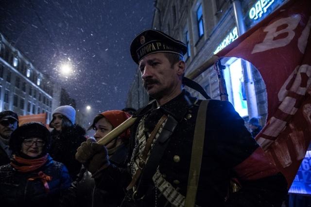 Шествие КПРФ в Петербурге, фото: Игорь Руссак: Фото