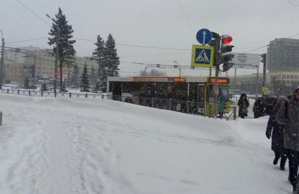 Автобус и троллейбус обстреляли неизвестные на Большеохтинском