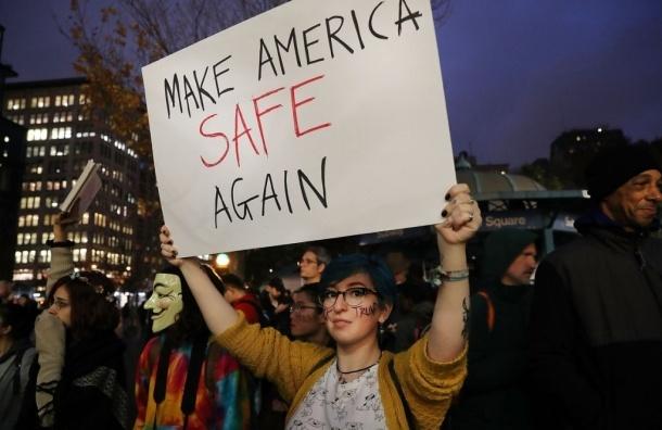 Протесты против Трампа продолжаются третьи сутки
