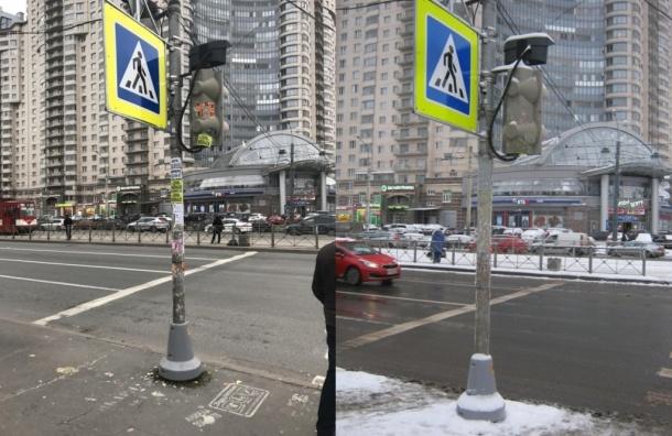 Петербургские чиновники закрасили рекламу настолбе вфоторедакторе