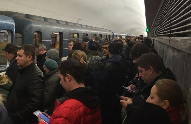 Пассажиров на «Чернышевской» вывели из поезда из-за сумки