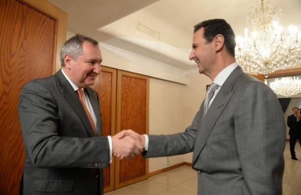 Рогозин провел в Дамаске переговоры с Асадом