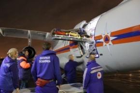 Самолет МЧС доставил в Петербург из Крыма тяжелобольных пациентов