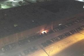 Припаркованная машина горела на 5-й Предпортовой улице