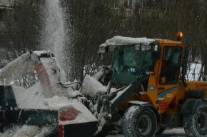 Коммунальщики с начала снегопадов вывезли с улиц Петербурга 343 тысячи кубов снега