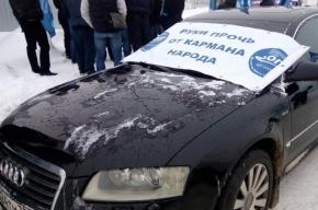 Задержанный на акции дальнобойщиков активист порезал себе руки и лицо