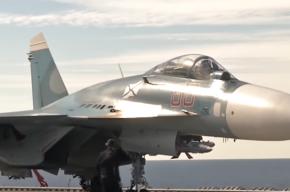 Минобороны опубликовало кадры вылета самолетов с «Адмирала Кузнецова»
