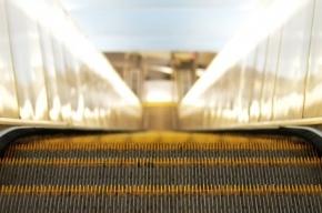 Поезда метро в Петербурге на синей линии стоят в тоннелях