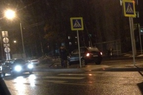 Велосипедиста в Петербурге сбили на «зебре»