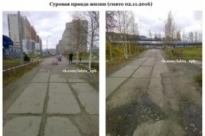 Фотошоп вместо ремонта дороги в администрации назвали просто ошибкой