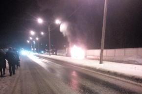 Очевидцы: водитель на большой скорости создал ДТП с пожаром в Петергофе