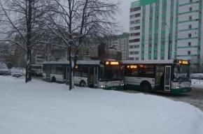 Два автобуса «поцеловались» на улице Маршала Казакова