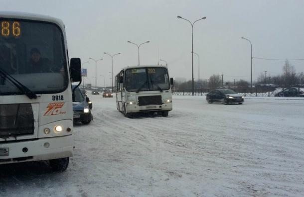Число ДТП в Петербурге удвоилось из-за сильного снега