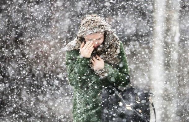 Снегопад с дождем накроет Петербург