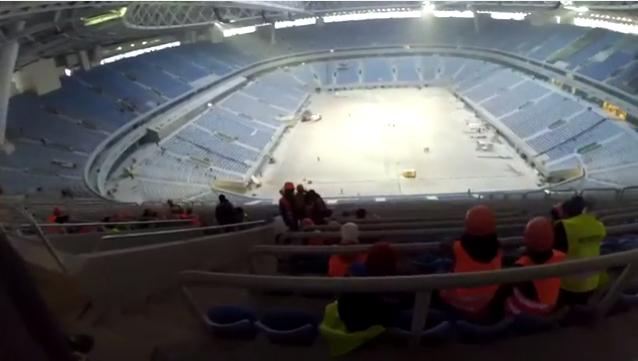 Петербургский руфер проник на«Зенит-Арену» иснял видео