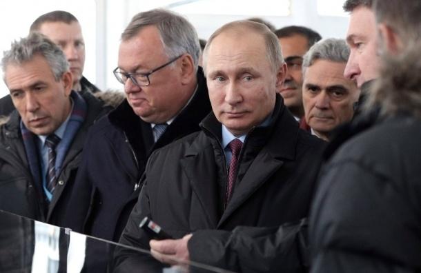 Путин открыл Центральный участок ЗСД в Петербурге