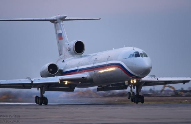 Свидетель сравнил падающий Ту-154 с мотоциклом, поставленным на заднее колесо