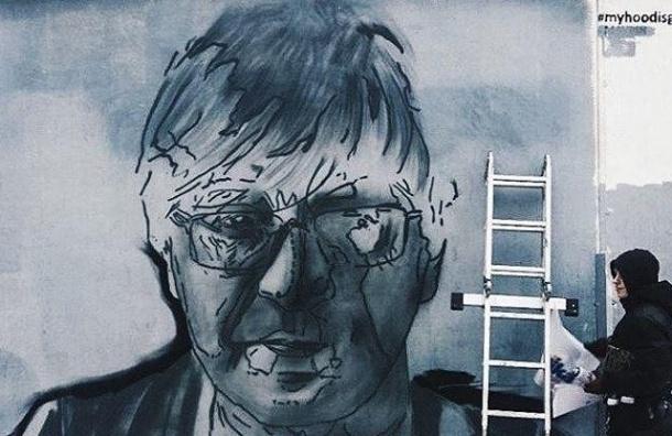 Художники создали в Петербурге граффити Юрия Шевчука