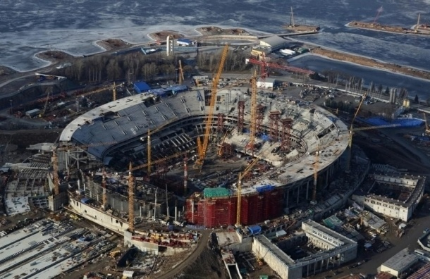 Стадион наКрестовском торжественно откроют весной