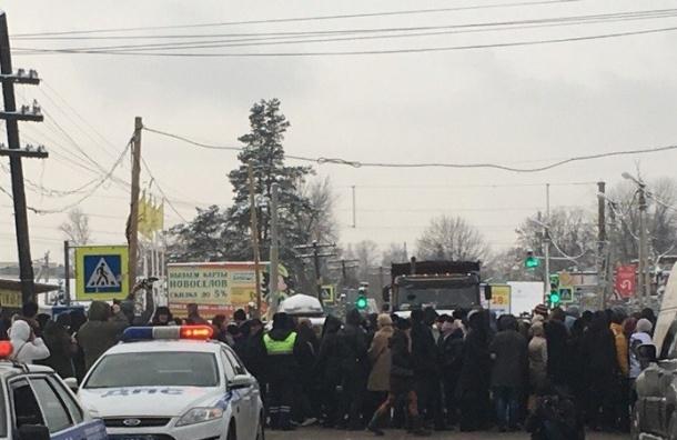 Полиция задержала троих митингующих пайщиков ЖК «Силы природы» в Мурино